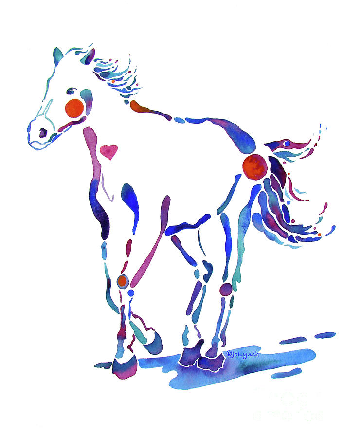 Horse Painting - Pony Canter With Love by Jo Lynch
