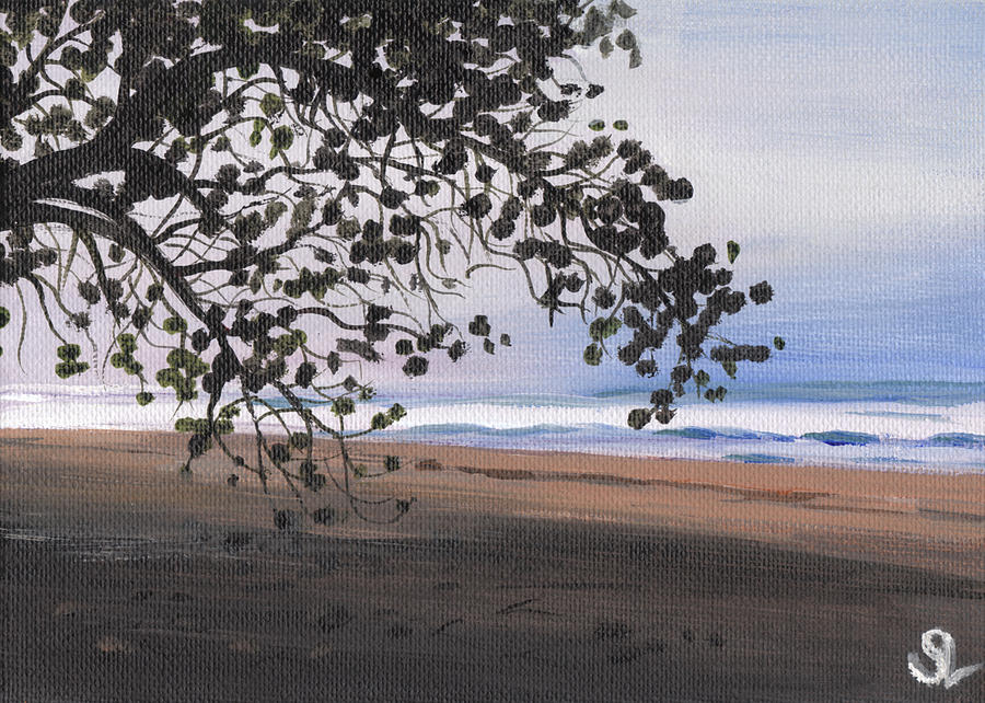 Puerto Rico Painting - Pools Beach by Sarah Lynch
