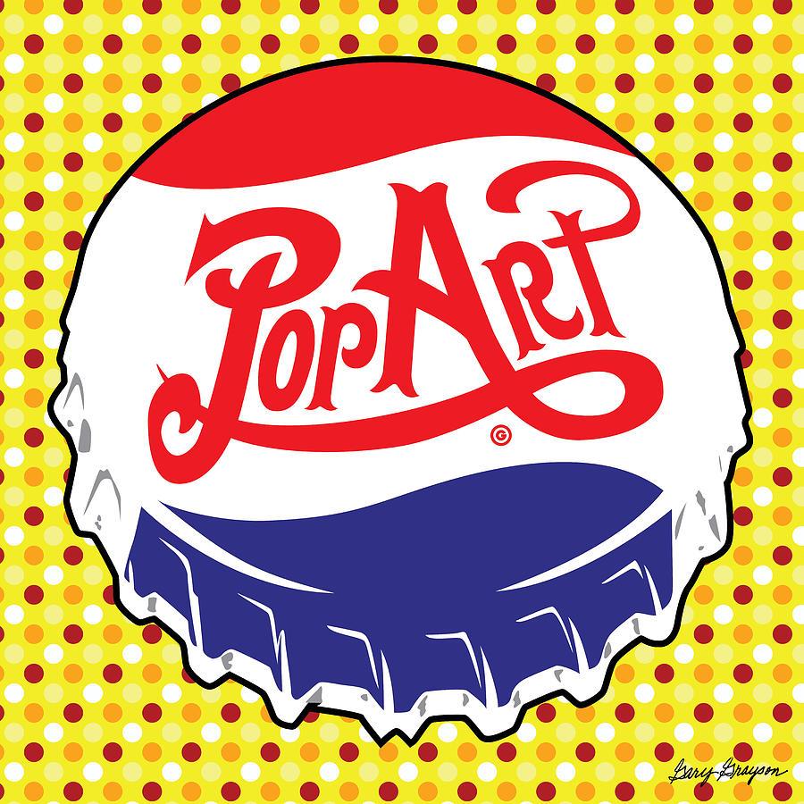 Pop Art Bottle Cap Painting By Gary Grayson