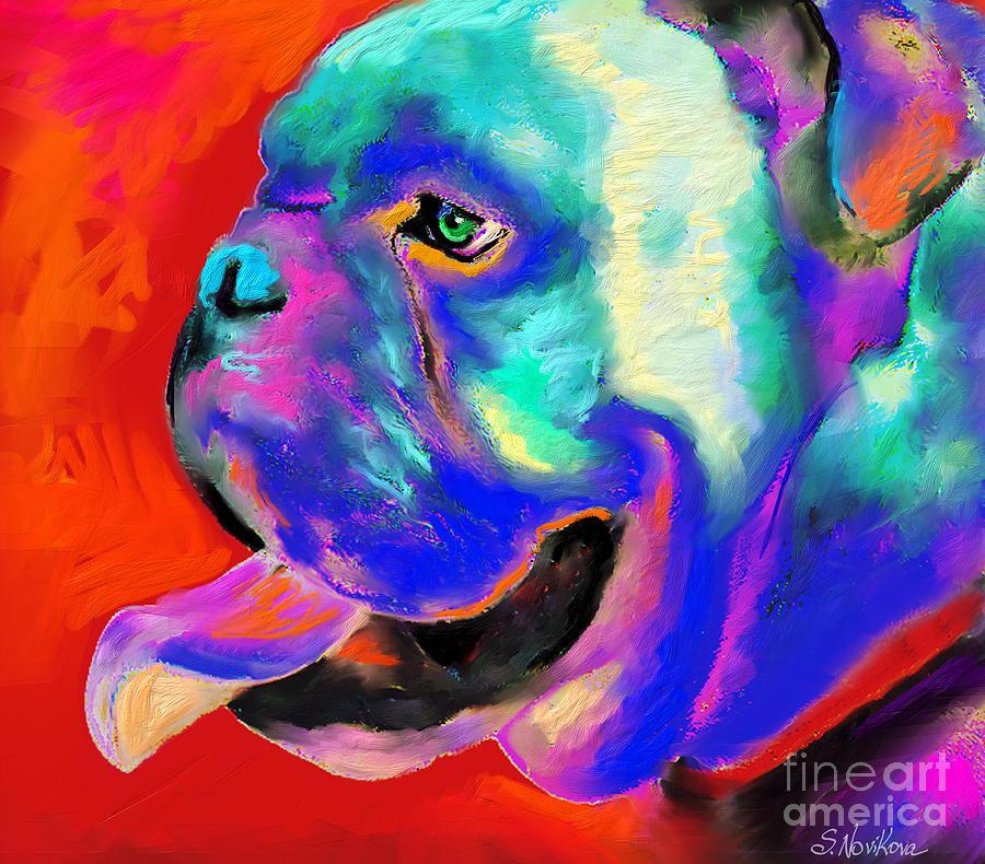 Pop Art English Bulldog Painting Prints Painting