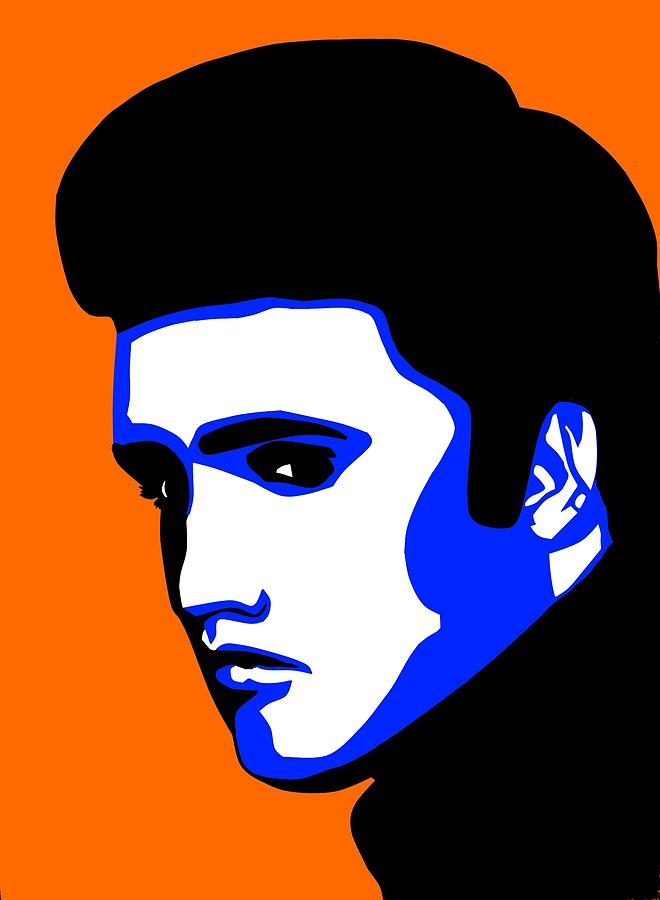 Portrait In Pop Art Style Painting - Pop Art Of Elvis Presley by Nikita Ryazanow