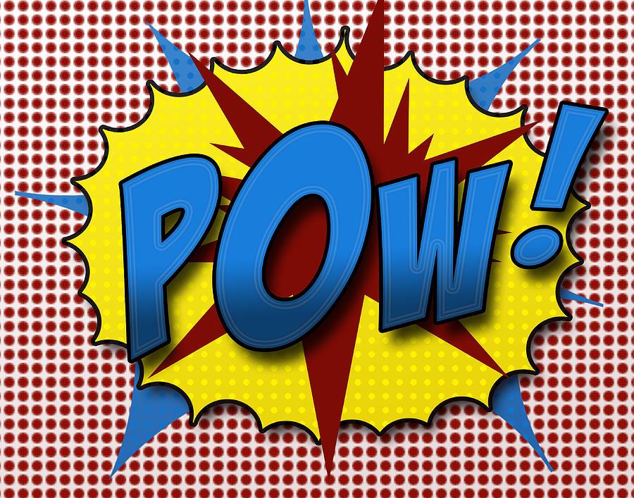 Comic Digital Art - Pop Pow by Suzanne Barber