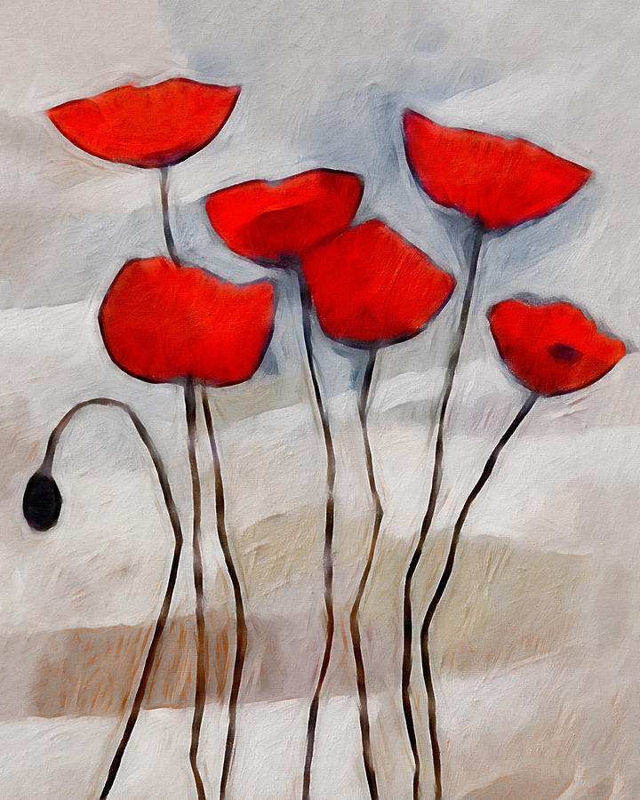 Poppies Painting - Poppies Painting by Lutz Baar
