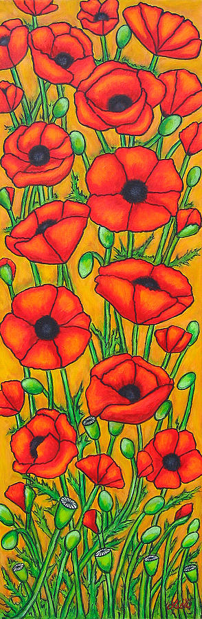 Poppies Painting - Poppies Under The Tuscan Sun by Lisa  Lorenz