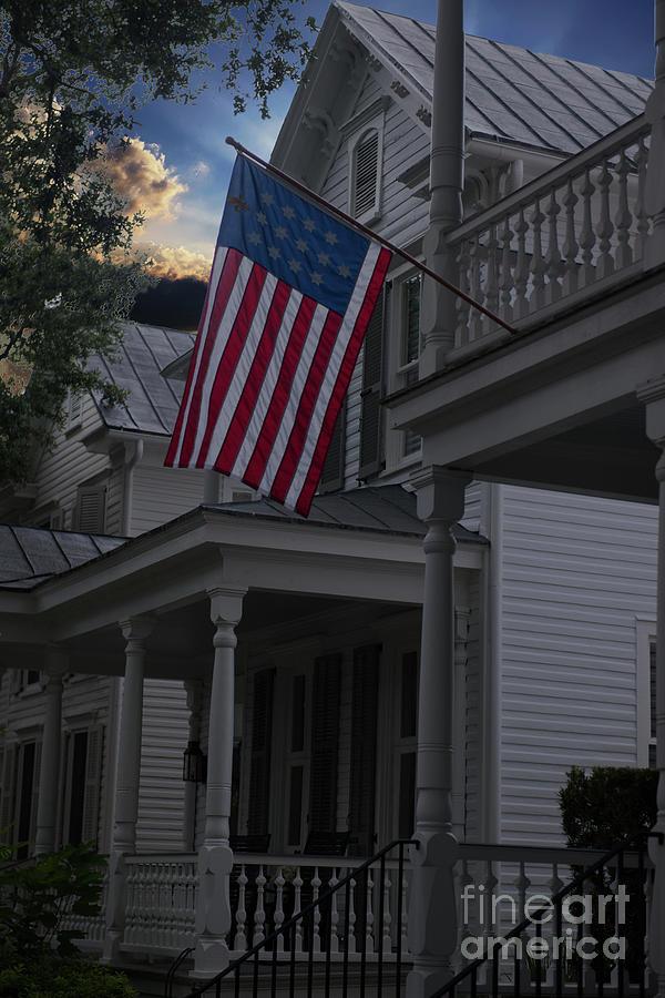 Porch Patriotism Photograph