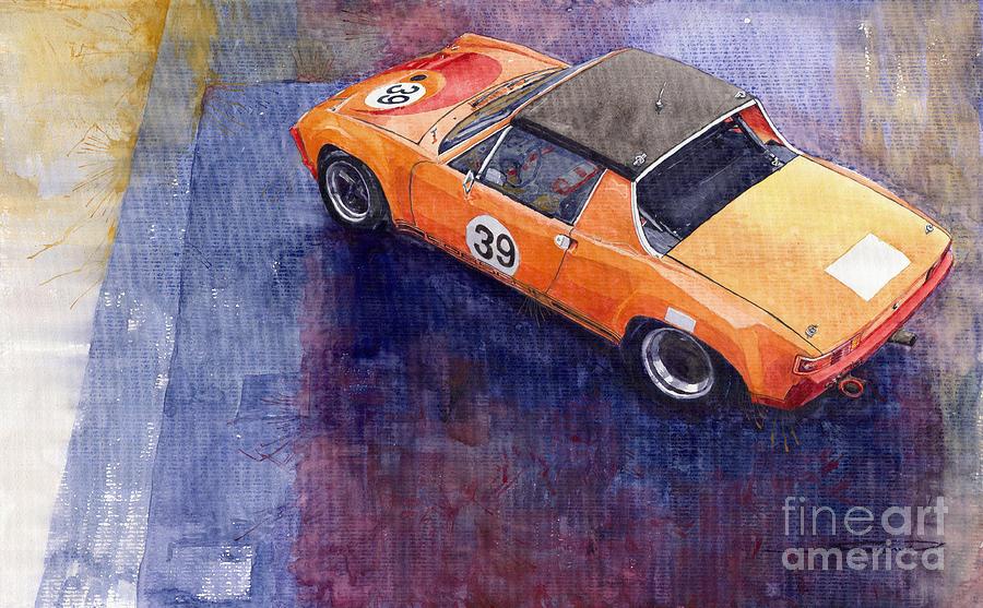 Watercolour Painting - Porsche 914 Gt by Yuriy  Shevchuk