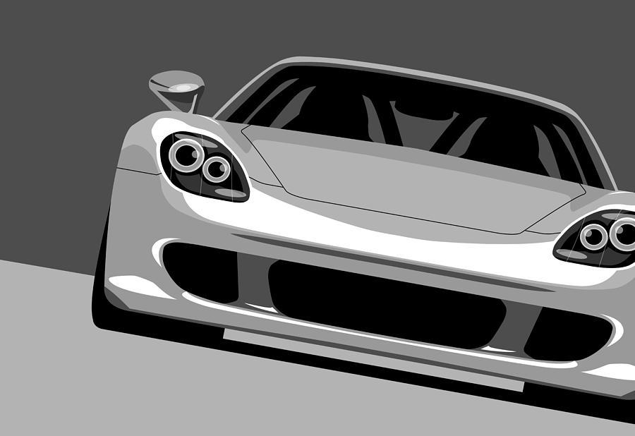 Porsche Carrera Gt Digital Art - Porsche Carrera Gt by Michael Tompsett