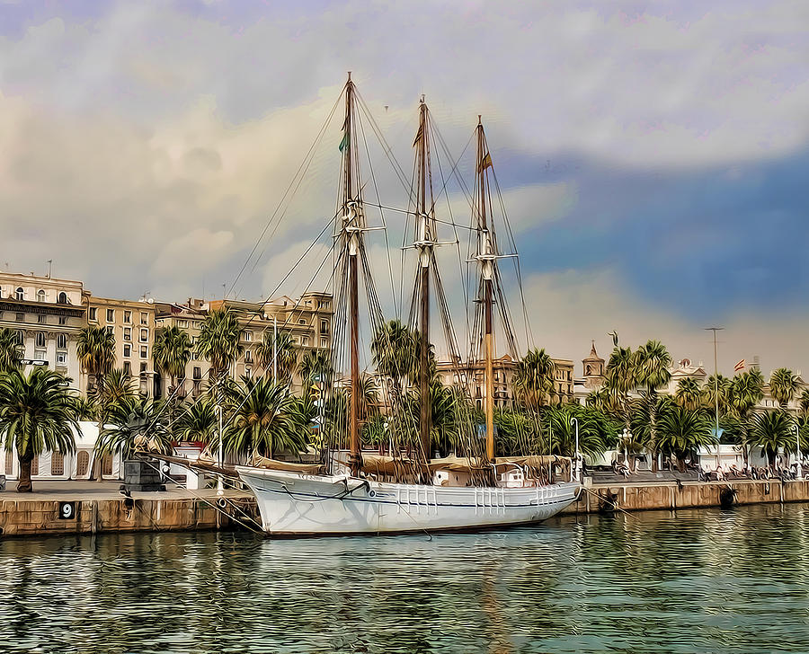 Port Vell  Photograph - Port Vell  Near Barcelona Harbour by Alex Hardie