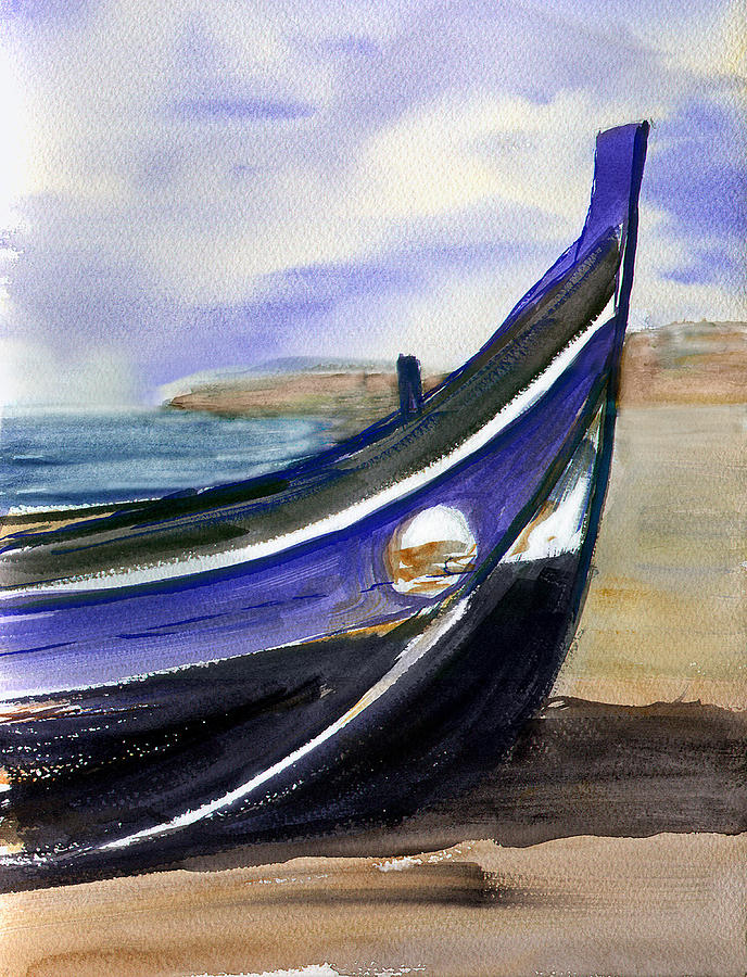 Seascape Painting - Portoboat by Anselmo Albert Torres