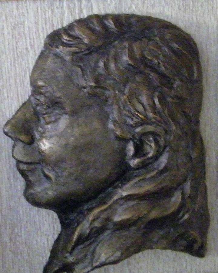 Portrait Relief - Portrait In Bronze by Willoughby Senior