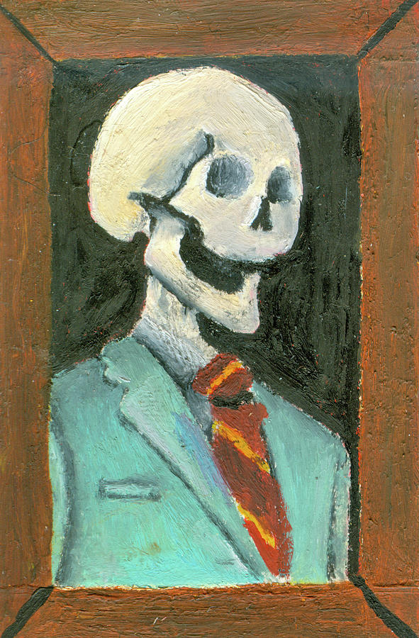 Skull Painting - Portrait by Mikey Milliken