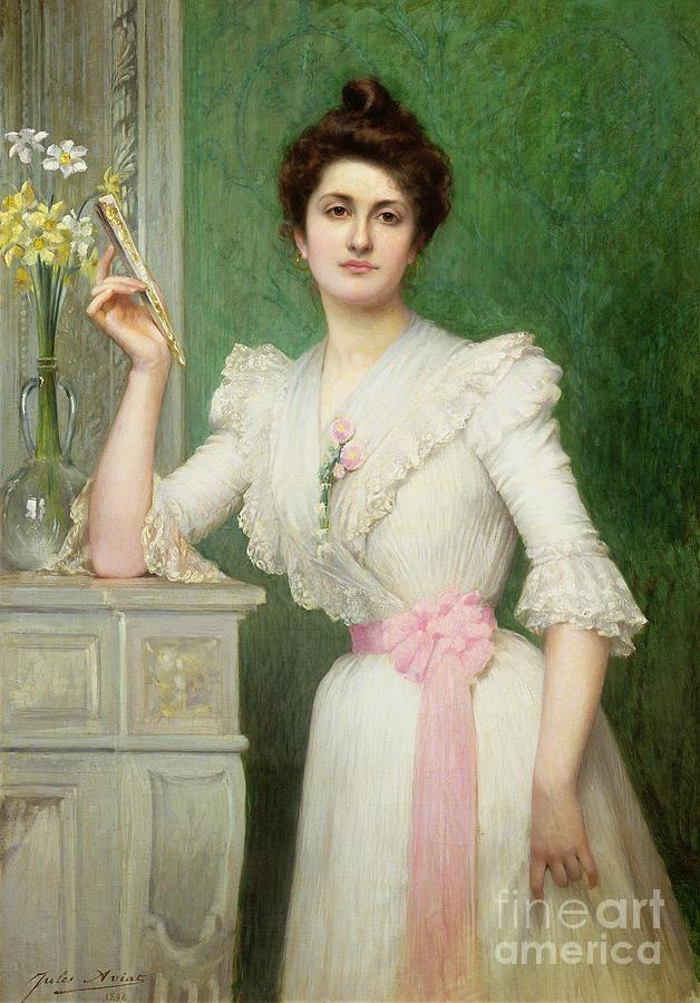 Portrait Of A Lady Holding A Fan Photograph
