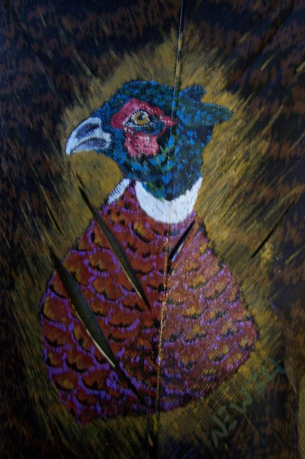 Pheasant Painting - Portrait Of A Ringneck by Chris Newell