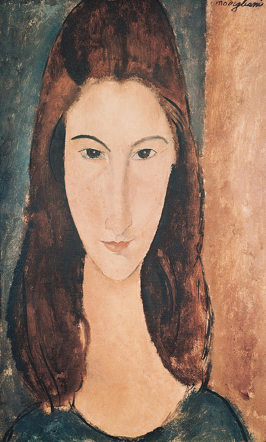 Portrait Painting - Portrait Of A Young Girl by Amedeo Modigliani