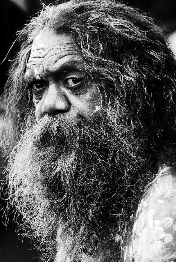 Portrait Of An Australian Aborigine Photograph