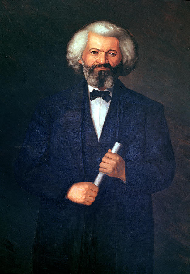 Portrait Of Frederick Douglass (1817-95) (oil On Canvas) By  American School (19th Century) Painting - Portrait Of Frederick Douglass by American School