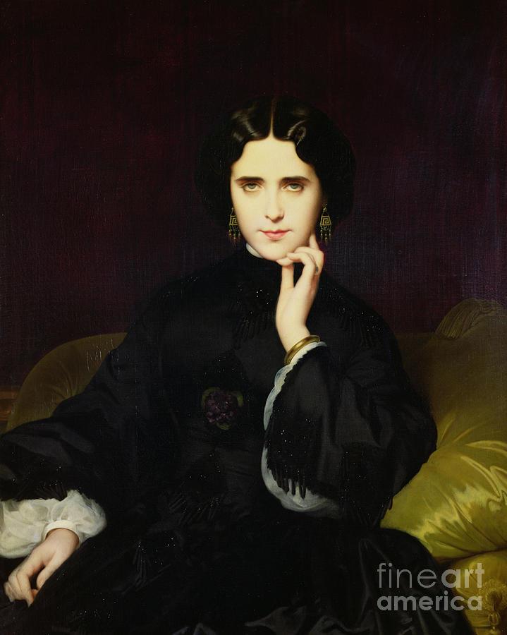 Portrait Of Jeanne De Tourbay Painting