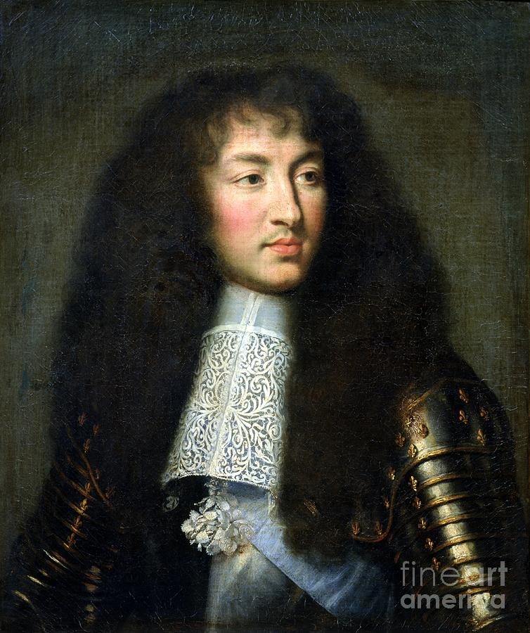 Portrait Of Louis Xiv Painting