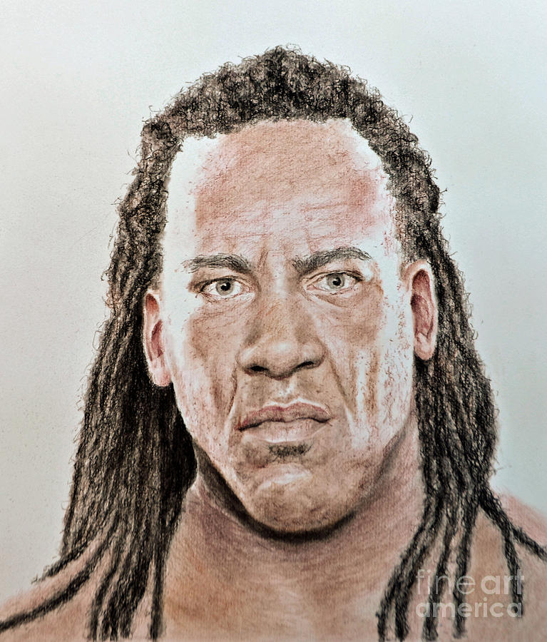 Portrait Of Pro Wrestler And Former World Champion Booker T Drawing