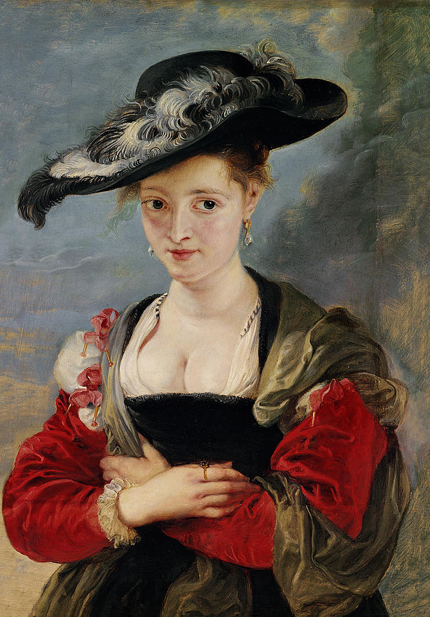 Portrait Of Susanna Lunden (le Chapeau De Paille) C.1622-25 (oil On Panel) By Peter Paul Rubens (1577-1640) Painting - Portrait Of Susanna Lunden by Peter Paul Rubens