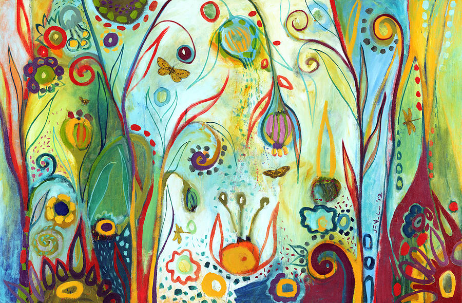 Garden Painting - Possibilities by Jennifer Lommers