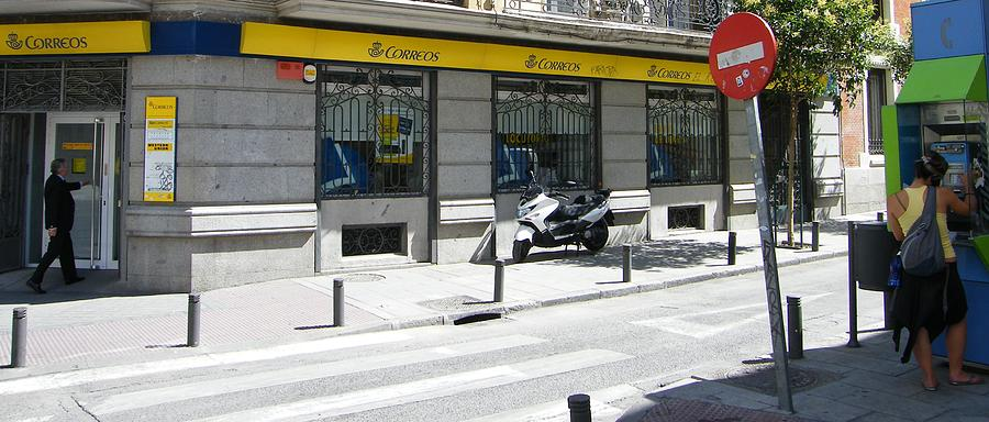 Post Office And Public Telephone On Mejia Lequerica Street - Madrid Photograph