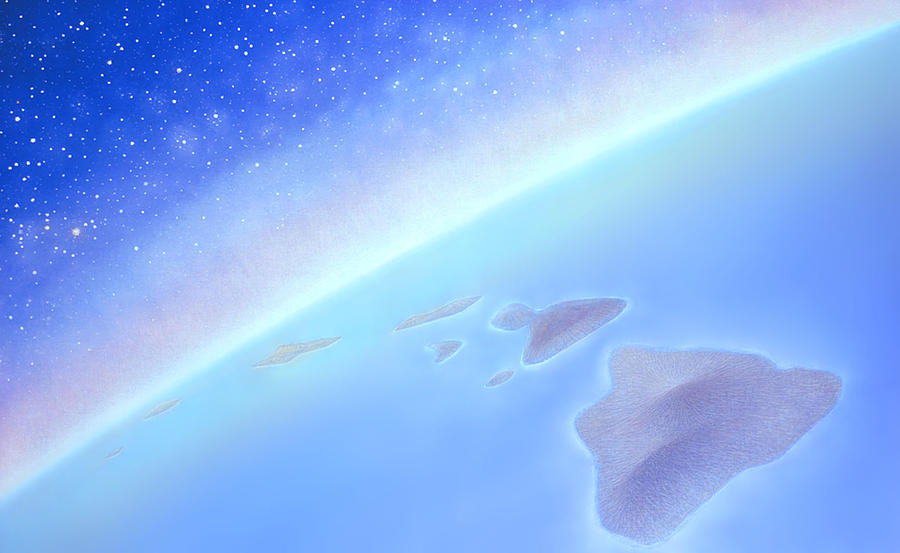 Hawaiian Islands Painting - Postcards From Concorde by Kevin Smith