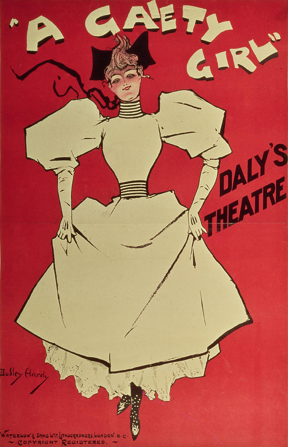 Poster Advertising 'a Gaiety Girl' At The Daly's Theatre Painting - Poster Advertising A Gaiety Girl At The Dalys Theatre In Great Britain by Dudley Hardy