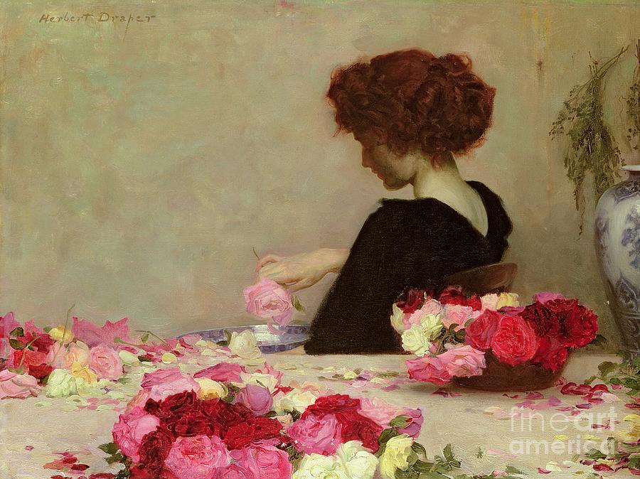 Female Painting - Pot Pourri by Herbert James Draper