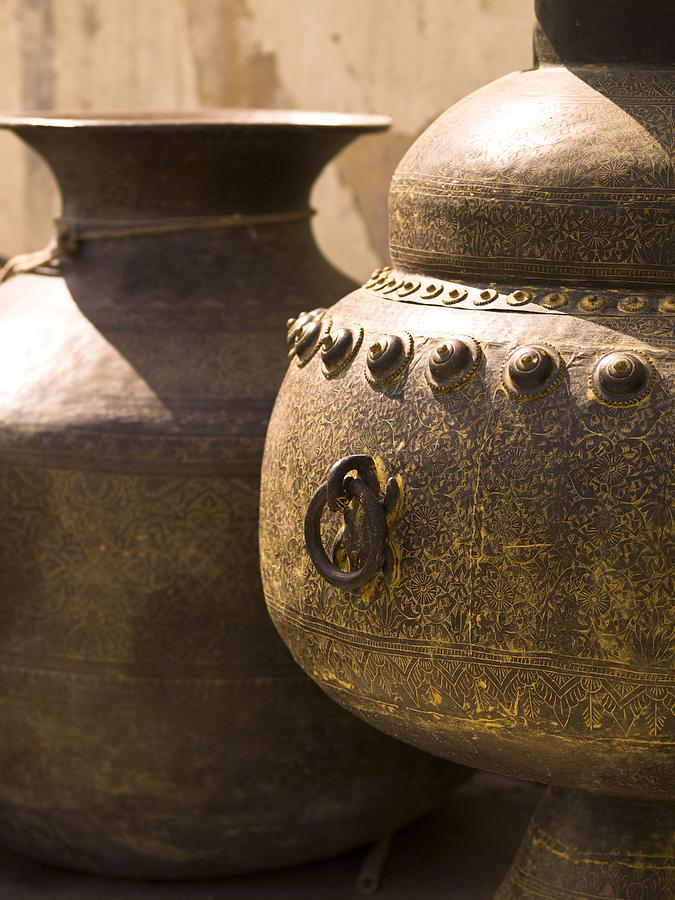 Artwork Photograph - Pots, Jaipur, India by Keith Levit