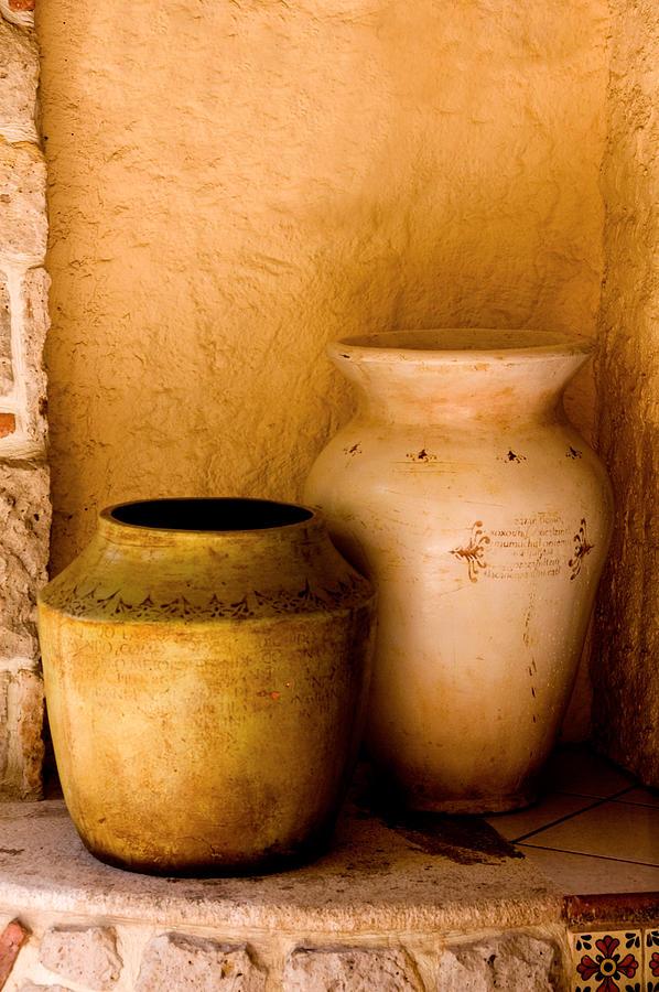 Art Stone Clay Pottary Mexico Brick  Photograph - Pottary Mexico by Xavier Cardell