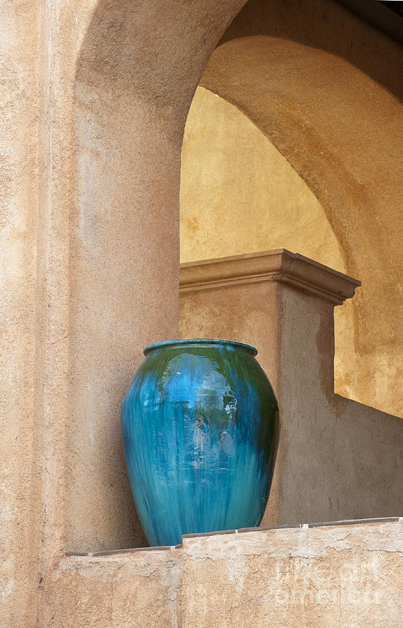 Southwest Photograph - Pottery And Archways by Sandra Bronstein