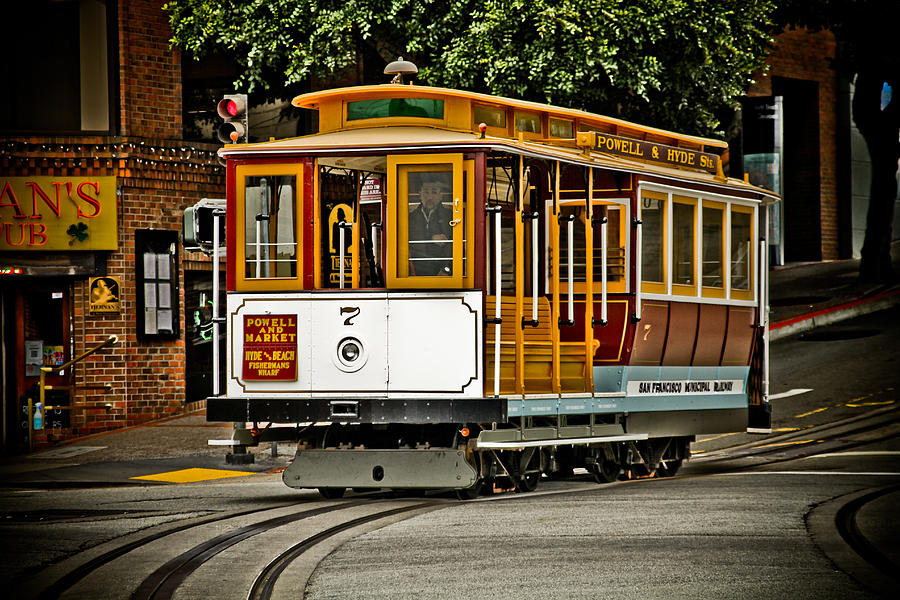 Trolley Photograph - Powell And Hyde by PMG Images