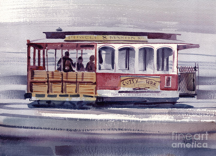 Powell Painting - Powell And Mason Line by Donald Maier