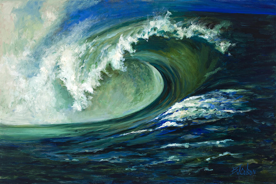 Waves Painting - Power by Billie Colson