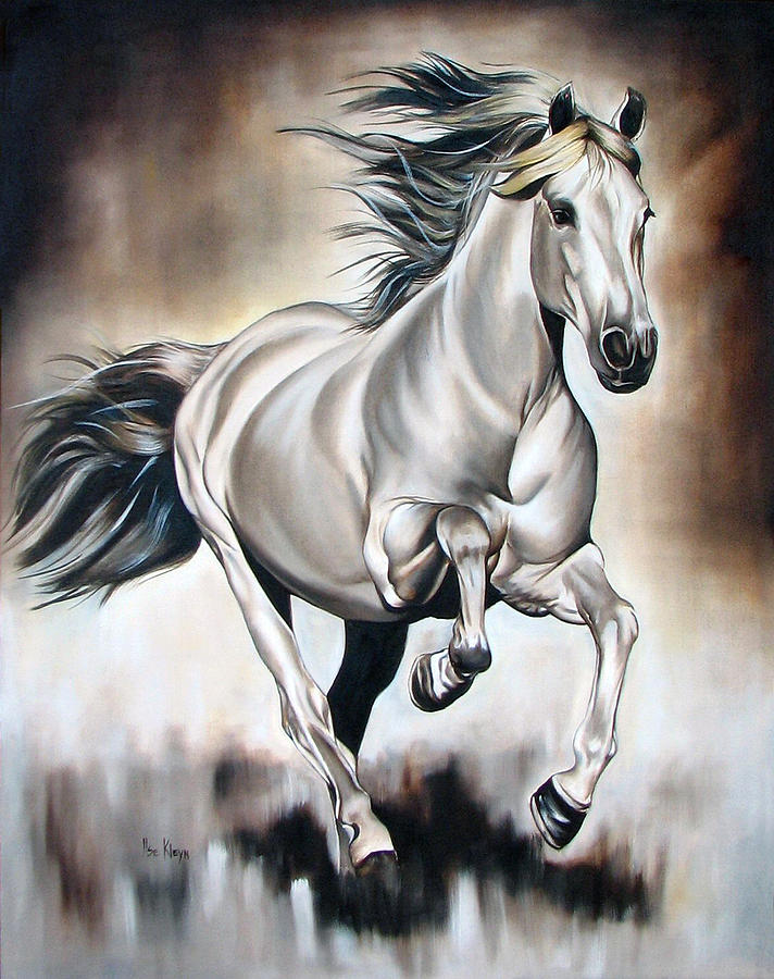 Horse Painting - Power by Ilse Kleyn