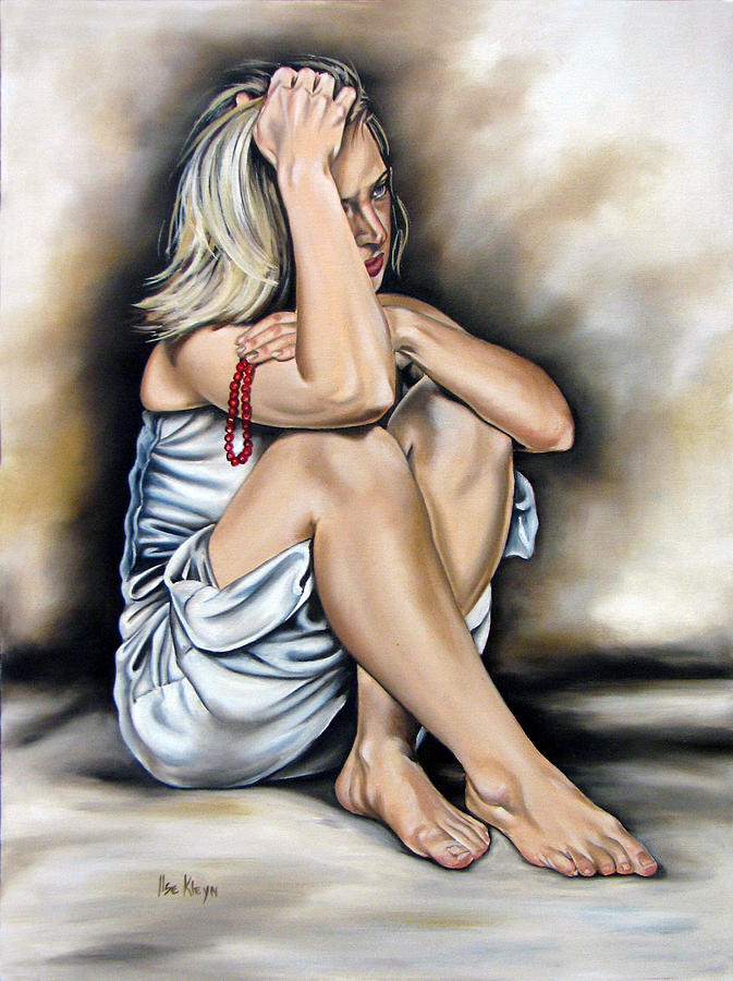 Woman Painting - Prayer II by Ilse Kleyn
