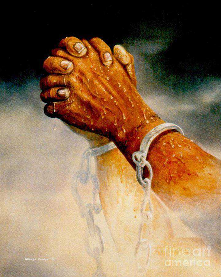 Blessing Painting - Praying Hands by George Combs