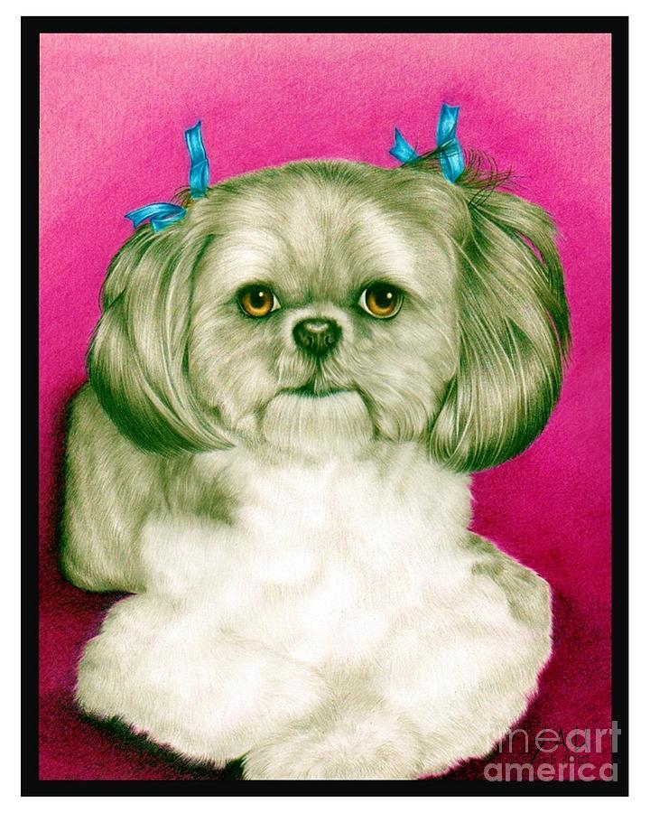 Portrait Drawing - Precious Girl by Sheryl Unwin