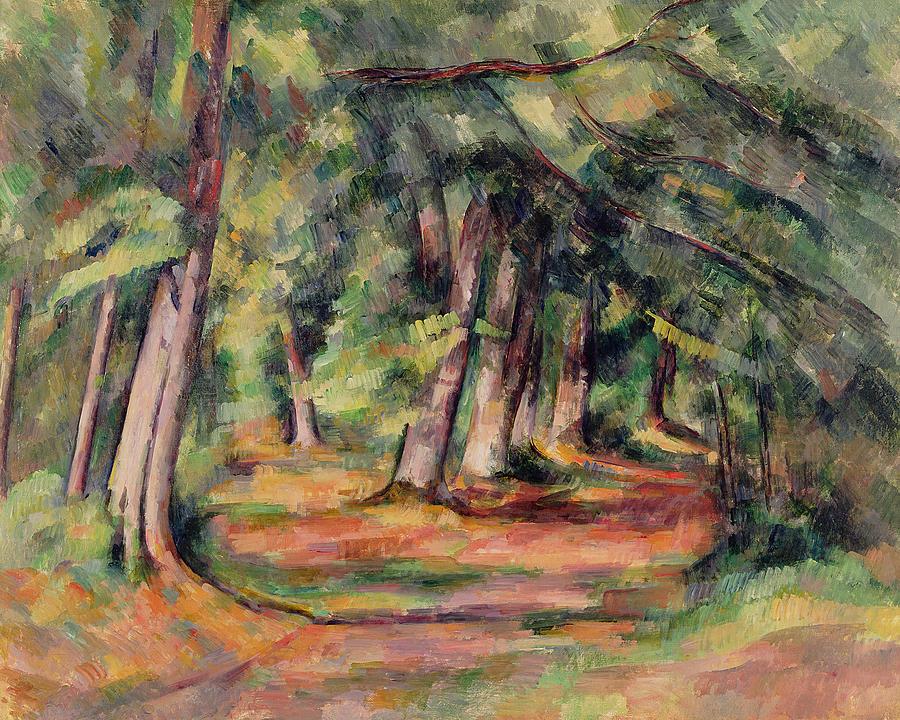 Sous-bois Painting - Pres Du Jas De Bouffan by Paul Cezanne