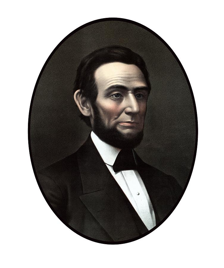 Abraham Lincoln Painting - President Abraham Lincoln  by War Is Hell Store