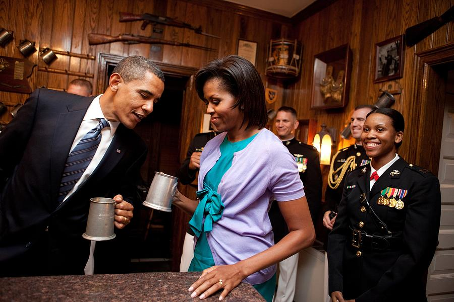 History Photograph - President And Michelle Obama Attend by Everett