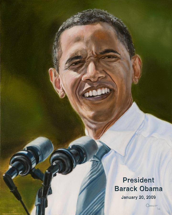 Obama Painting - President Barack Obama by Christopher Oakley