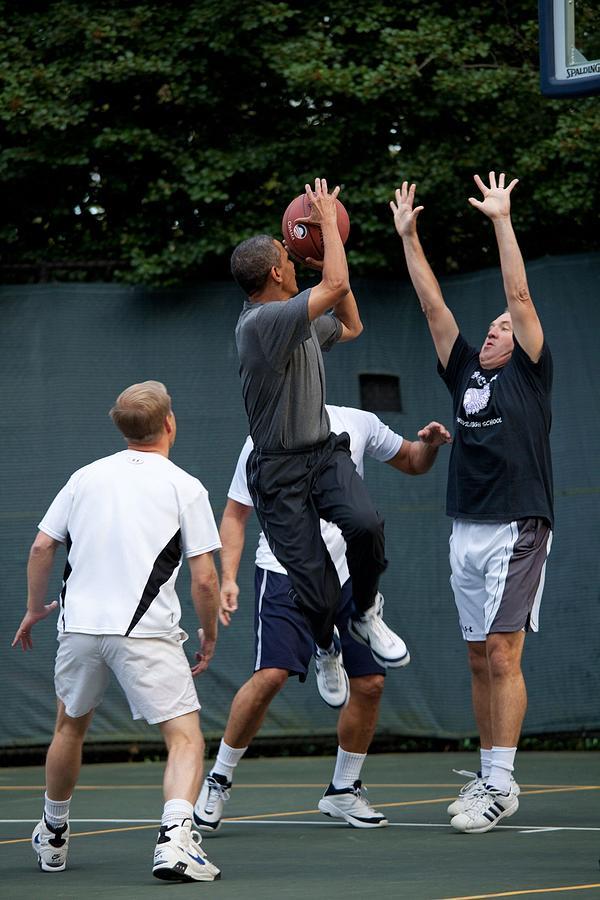 History Photograph - President Barack Obama Takes A Shot by Everett