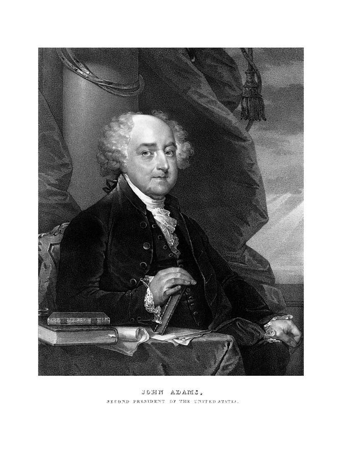 John Adams Drawing - President John Adams by War Is Hell Store