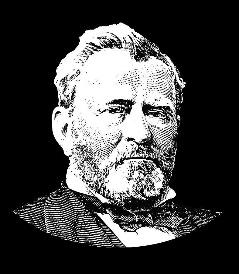 Us Grant Digital Art - President Ulysses S. Grant by War Is Hell Store