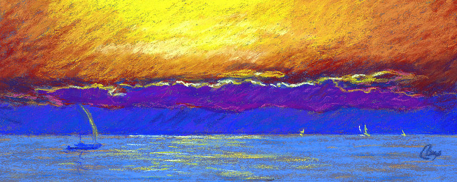 Seascape Painting - Presque Isle Bay by Michael Camp