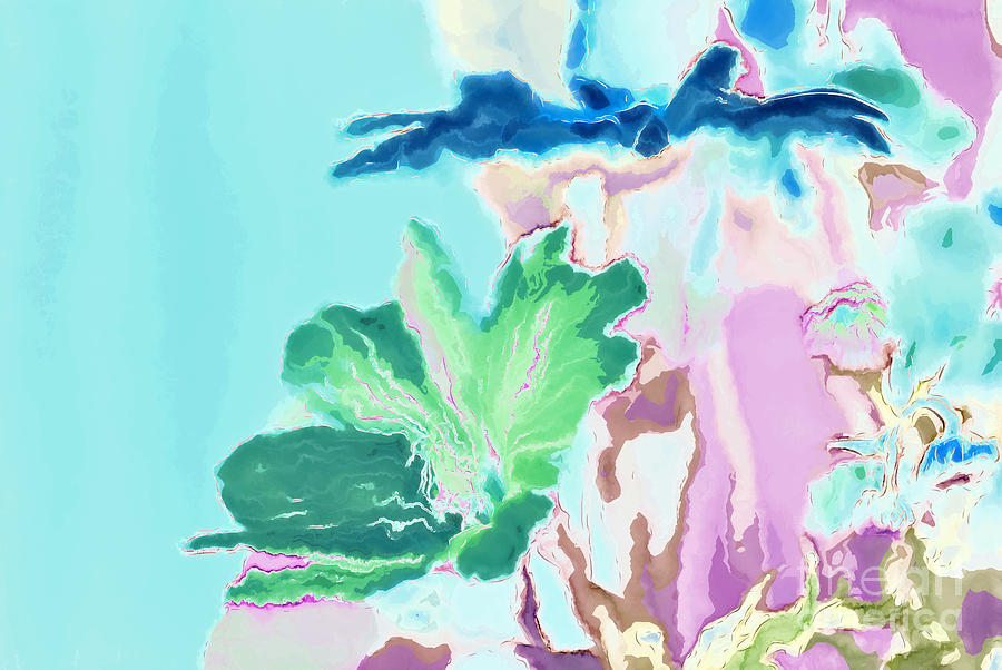 Flowers Digital Art - Pretty Bouquet A09z by Variance Collections