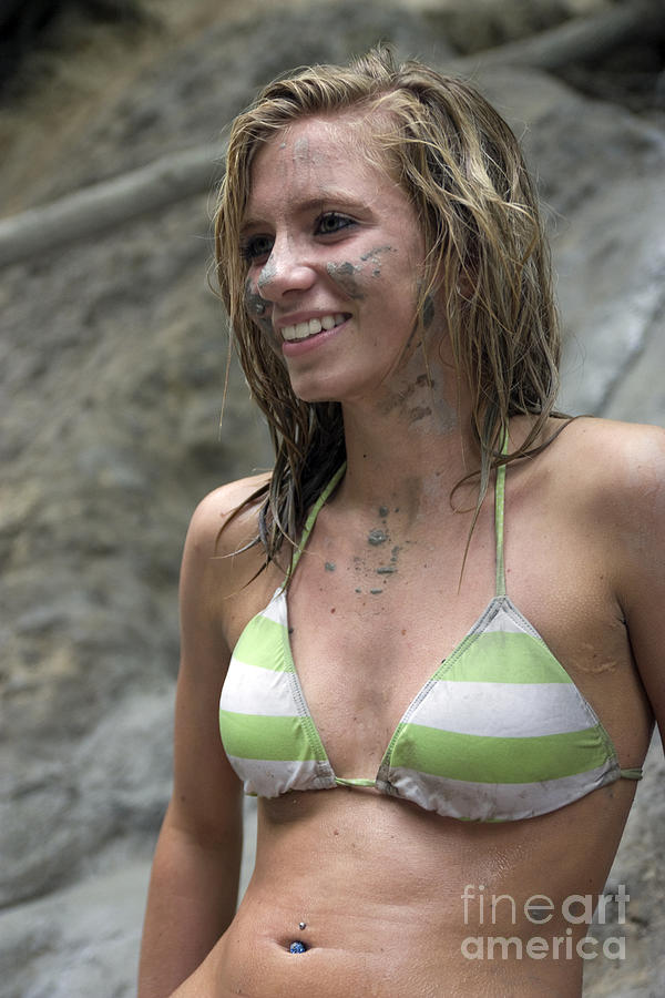 Pretty Girl In Mud Photograph