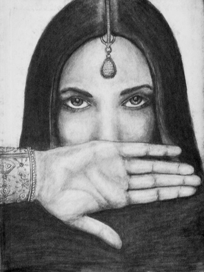 Gypsy Drawing - Pretty Gypsy by Donovan Hubbard